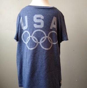USA Olympics Navy Blue T-Shirt Boys Small Size 6/7